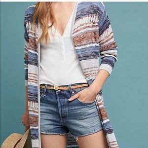 Anthropologie Heaney Striped Cardigan